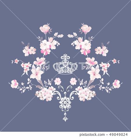 優雅的水彩花卉和邀請卡設計 49849824
