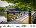 Ukimido Pavillion on water in Nara park, Japan 49850034