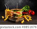 Tall club sandwich 49851676