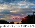 traffic lights Sunset with beautiful blue sky 49852126
