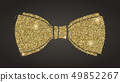 Classical bow with glitter. Silhouette of bow tie 49852267