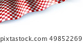 Flag for car race or motorsport rally on white 49852269