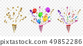 Vector confetti. Festive illustration. 49852286