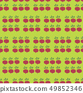 Turnip Field Seamless Vector Pattern. Vegetable background. 49852346