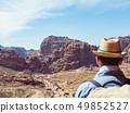 Tourist in a city of Petra in Jordan 49852527