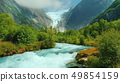 Mountain river and Brixdal glacier in the background. The Incredible Landscapes of Norway 49854159