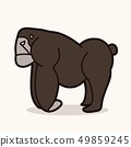 Gorilla cartoon graphic vector 49859245