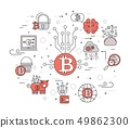 Bitcoin outline icons collection set. Modern technologies linear symbol pack. Template of thin line 49862300