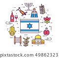 Country Israel travel vacation guide of goods 49862323
