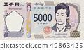 รูปภาพประกอบตั๋วใหม่ใบเรียกเก็บเงิน 5,000 เยน 49863425