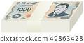 ภาพแสดงชุดธนบัตร 1,000 เยน (ธนบัตรใหม่) 49863428