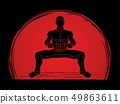 Man Kung Fu action ready to fight graphic vector 49863611