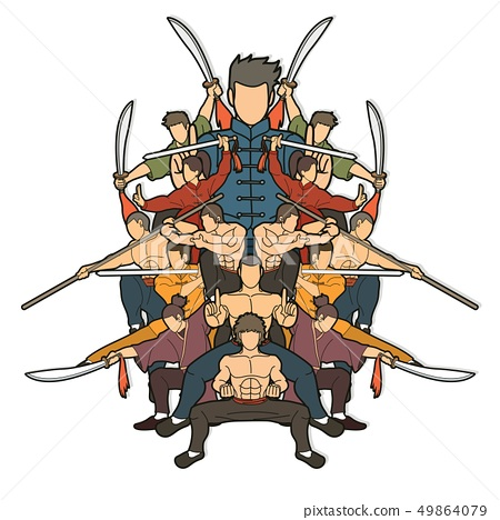 Group of People Kung Fu fighter, Martial arts  49864079