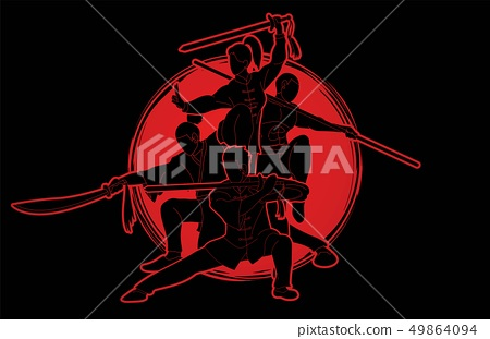 Group of People Kung Fu fighter, Martial arts 49864094
