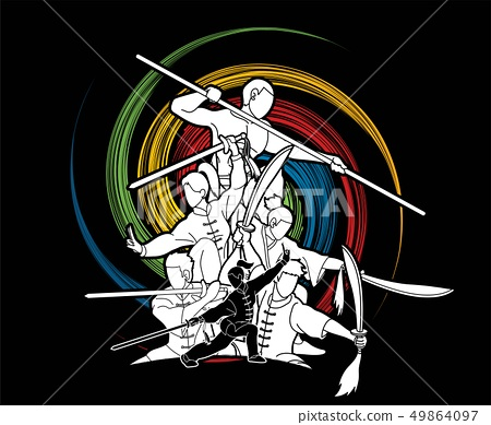 Group of People Kung Fu fighter, Martial arts 49864097