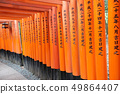 Fascinating shrine in Japan with red gate 49864407