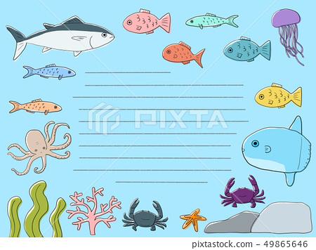 魚信紙邊框 49865646