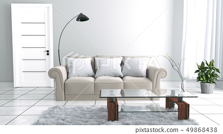 living room interior Scandinavian style 49868438