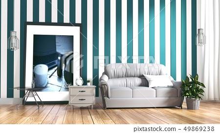 Modern Room Scandinavian Style 49869238