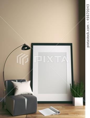 Modern Room Scandinavian Style 49870043