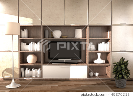 Modern room interior - Empty room 49870212