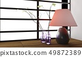 Lamp and vase decoration Japanese style 49872389