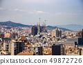 Urban skyline of Barcelona and Sagrada Familia 49872726