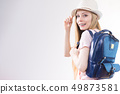 Young woman going to school 49873581