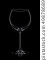 Wine  glass on black. 49878689