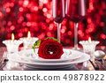 Valentines day place setting. 49878922