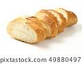 절단 된 프랑스 빵 버킷 49880497