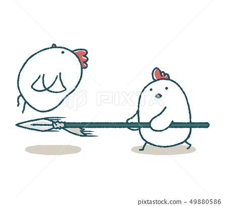 飛揚的雞肉和三文魚 49880586