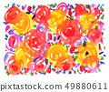 水彩畫 著了色的 充滿活力的顏色 49880611