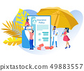 Vector Illustration Medical Insurance Policy. 49883557