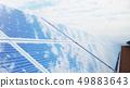 3D illustration Solar Panels. Alternative energy. Concept of renewable energy. Ecological, clean 49883643