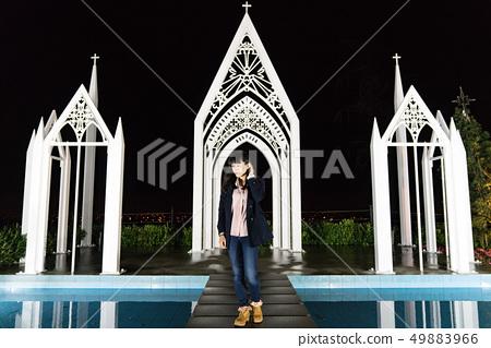 少女教堂。一件日本女性立即結婚。一場非常浪漫的西部婚禮。 49883966