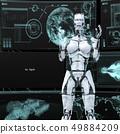 Humanoid robot female perming3DCG illustration material 49884209