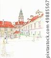 세계 유산의 거리. 체코 체스키 크룸 로프의 공화국 광장 49885567