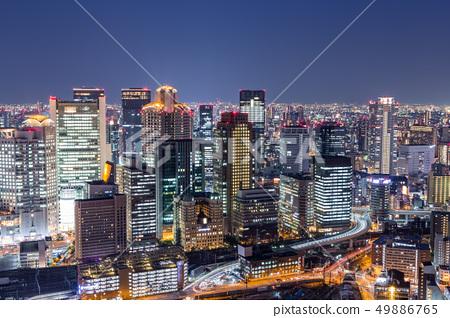 Osaka downtown skyline from Umeda sky building 49886765