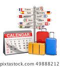 Travel Calendar concept, 3D rendering 49888212
