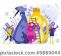 Washing and Cleaning Products Flat Illustration. 49889044