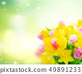 bouquet of tulips and daffodils 49891233