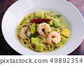 意麵配蝦和鱷梨和胡椒 49892354