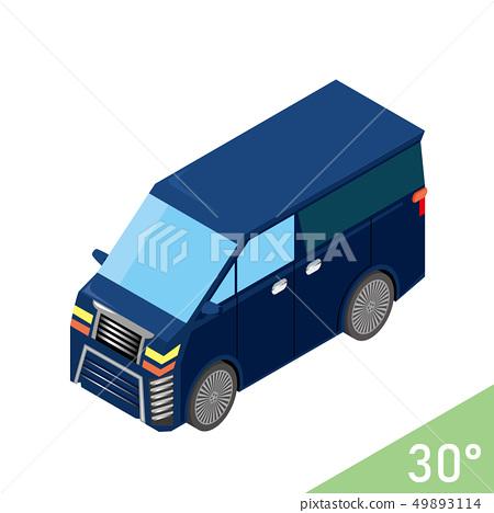 Three-dimensional car illustration minivan luxury car   vector data isometric projection 49893114