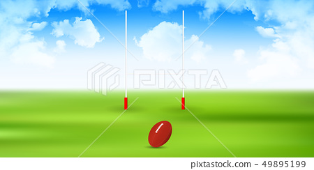 Rugby pole sports background 49895199