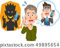 被电话欺诈欺骗的老人 49895654