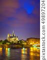 Notre Dame de Paris at night 49897204