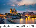Notre Dame de Paris at night 49897206