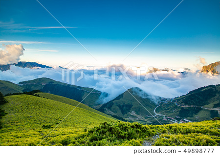 台湾合欢山山脉 Asia Taiwan Hehuanshan Mountains 49898777
