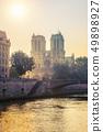 Siene river and Notre Dame de Paris 49898927